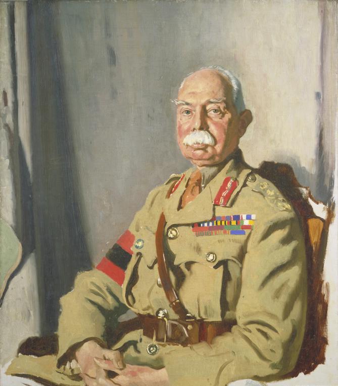 Портрет командующего 2-й британской армией генерала Герберта Пламера