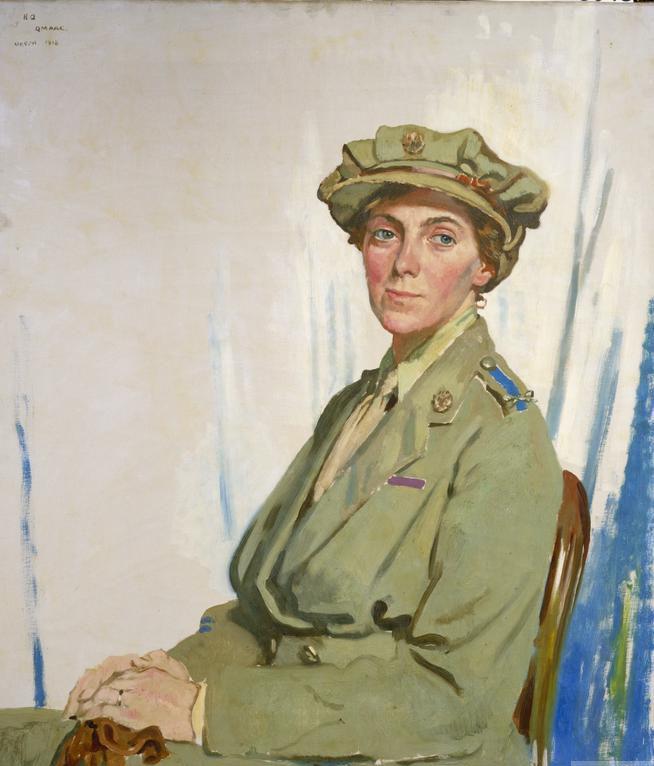 Портрет главного контролера Женского вспомогательного корпуса во Франции Хелен Гвинн-Воган