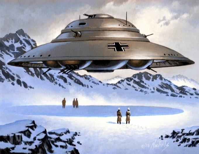 НЛО Третьего рейха – «Диск Белонце». По мнению сторонников Сабо, такие летательные аппараты базируются в Антарктиде на базе «Берлин 211» (http://myth.greyfalcon.us)