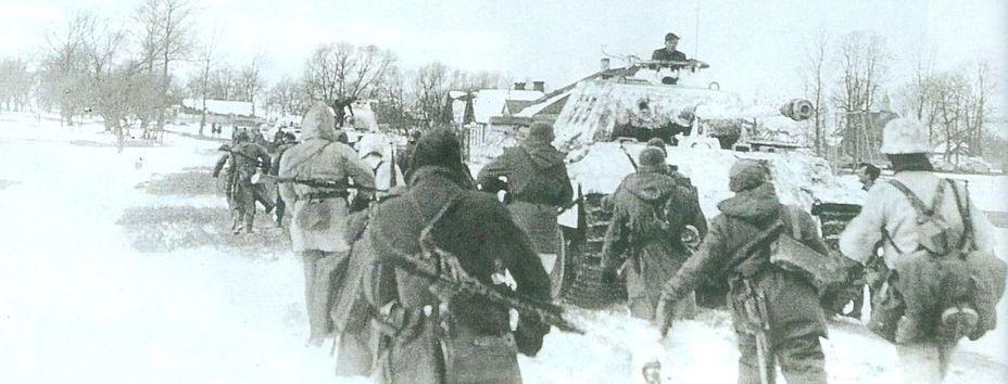 8-я танковая рота и бойцы 434-го гренадерского полка во время наступления на Ковель chatterlinks.ru - Ковельский рейд эсэсовских танкистов | Warspot.ru