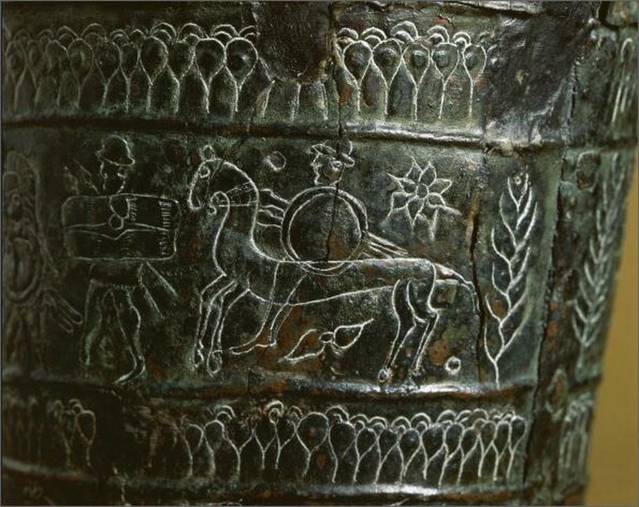 Изображение на ситуле Арноальди даёт представление о внешнем виде и вооружении италийских воинов VII—VI веков до н.э.