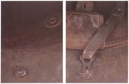 Стальной шлем М16, крепёж подбородочного ремешка. - От «пикельхаубе» к «штальхельму» | Warspot.ru