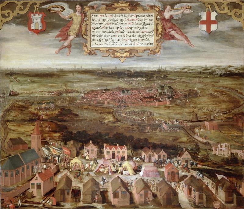 Осада Алкмара в 1573 году. Неизвестный художник, 1603 год