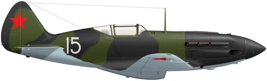 Реконструкция МиГ-3 из 401-го ИАП с предыдущего фото (художник Александр Казаков) - Тяжёлое испытание для испытателей | Warspot.ru