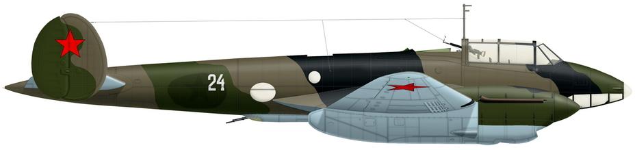 Реконструкция Пе-2 из 410-го БАП с предыдущего фото (художник Александр Казаков) - Тяжёлое испытание для испытателей | Warspot.ru