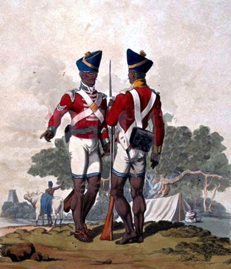 Мадрасские сипаи, начало XIX века