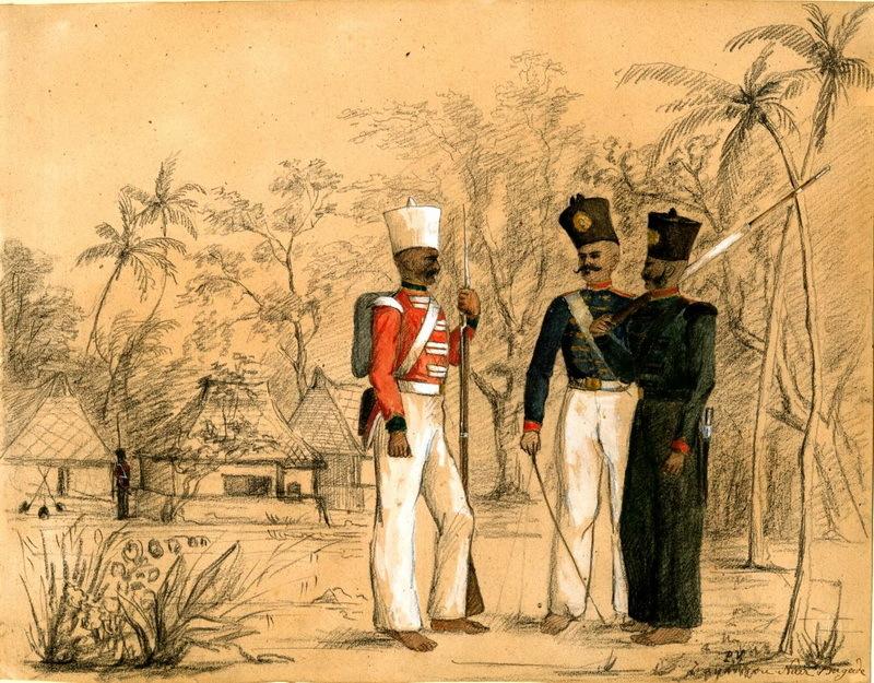 Наирские солдаты Траванкора, XIX век