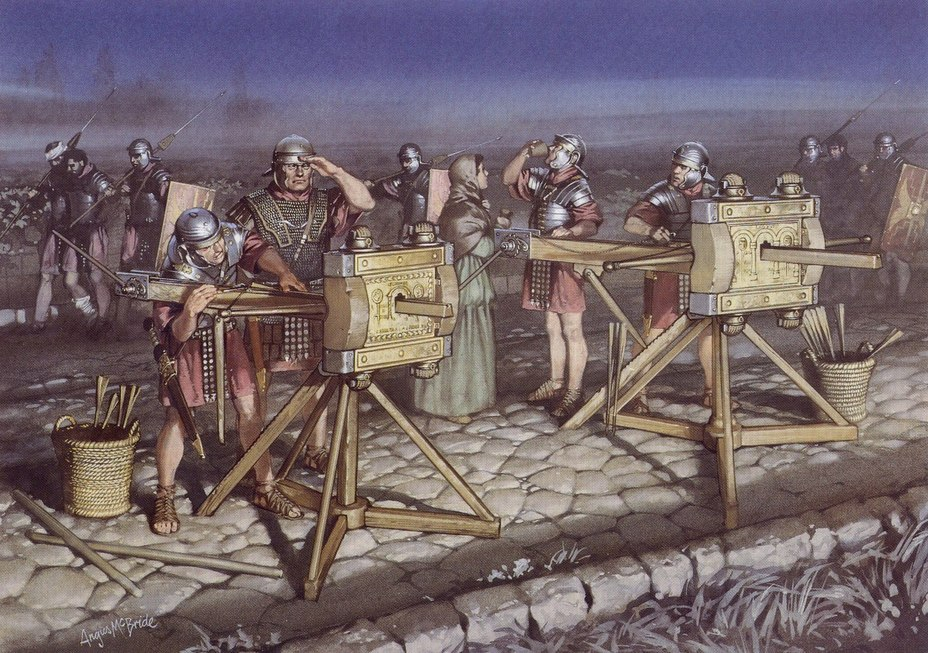 Римские карробаллисты. imperioromanodexaviervalderas.blogspot.com - Словом и копьём   Warspot.ru
