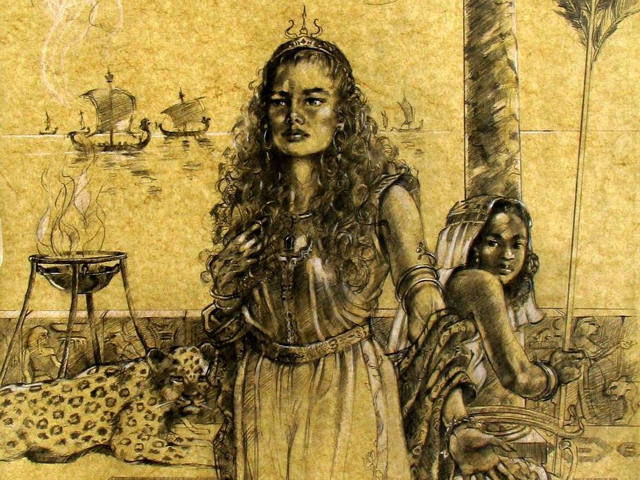 Так романтично в воображении современного нам художника выглядела основательница Карфагена Элисса, она же Дидо - Мегаполис, стёртый с лица земли | Warspot.ru