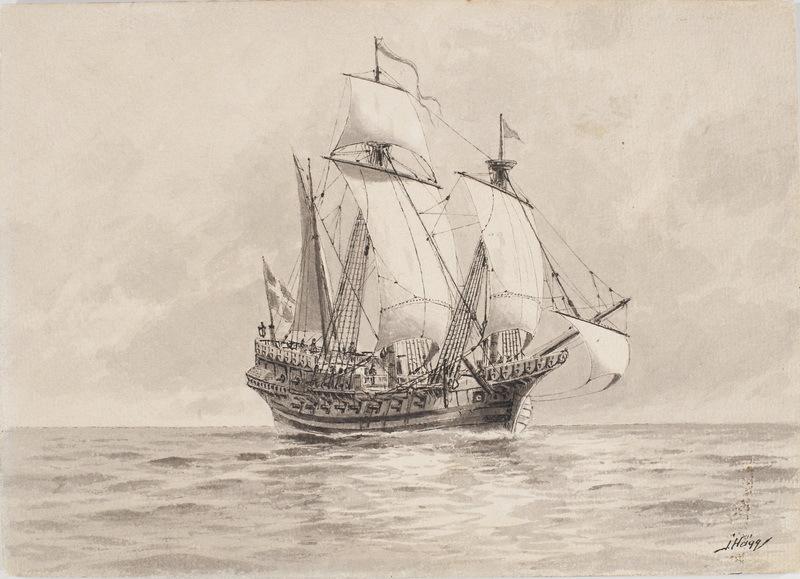 Корабль «Любек Сван», купленный Густавом Вазой у Любека в 1522 году. Реконструкция Якоба Хогга - Густав Ваза строит флот | Warspot.ru