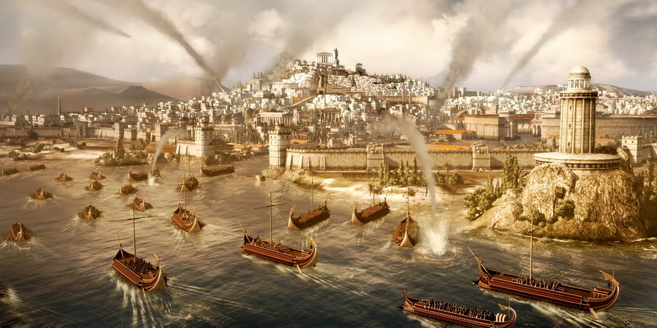 Римский флот атакует Карфаген - От тартессийцев до римлян   Warspot.ru