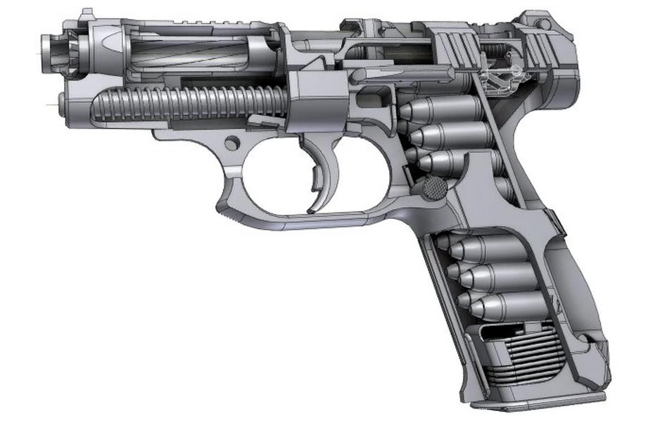 ?«Рентген-схема» пистолета ГШ-18 (http://vestidosaaf.ru) - Оружие последнего шанса | Warspot.ru