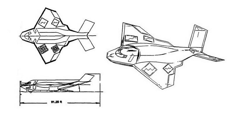Возможный внешний вид одного из вариантов Northrop SOFA, не позже 1990 года - Специальный самолёт для специальных людей | Warspot.ru