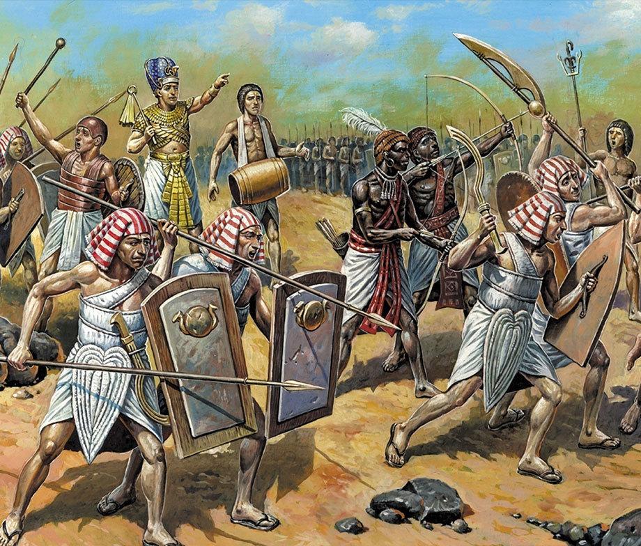 Египетские воины периода Нового Царства.ancientfacts.net