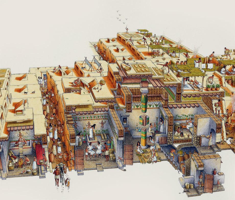 Посёлок строителей гробниц периода Нового Царства.stephenbiesty.co.uk