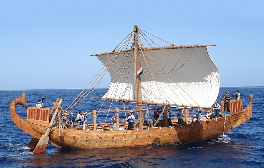 Реконструкция египетского корабля периода Нового Царства.maritimehistorypodcast.com