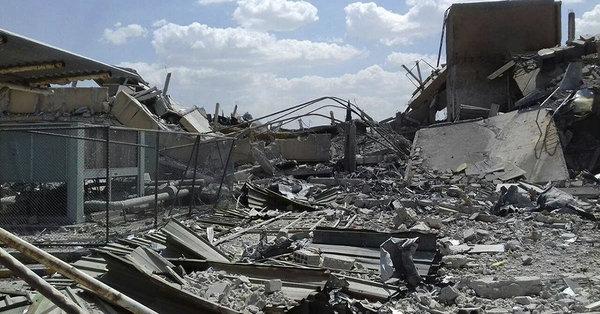 Центр исследований и развития после удара крылатых ракет. Фото сирийского официального новостного агентства SANA. - JASSM-ER: боевое крещение | Warspot.ru