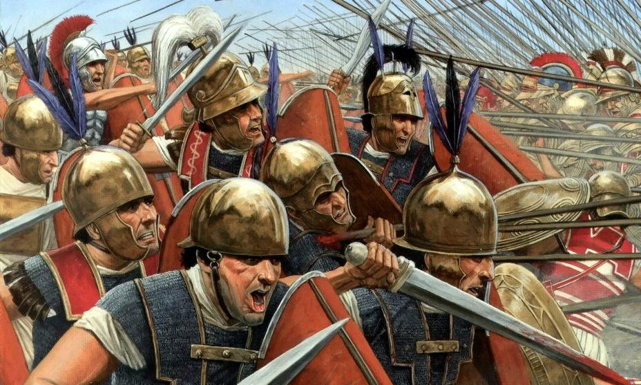 Римские легионеры в бою с карфагенской пехотой - Самый младший из Баркидов | Warspot.ru