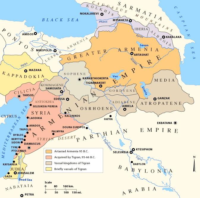 Составные части империи Тиграна II Великого - Цифры Warspot: 70 плодородных долин  | Warspot.ru