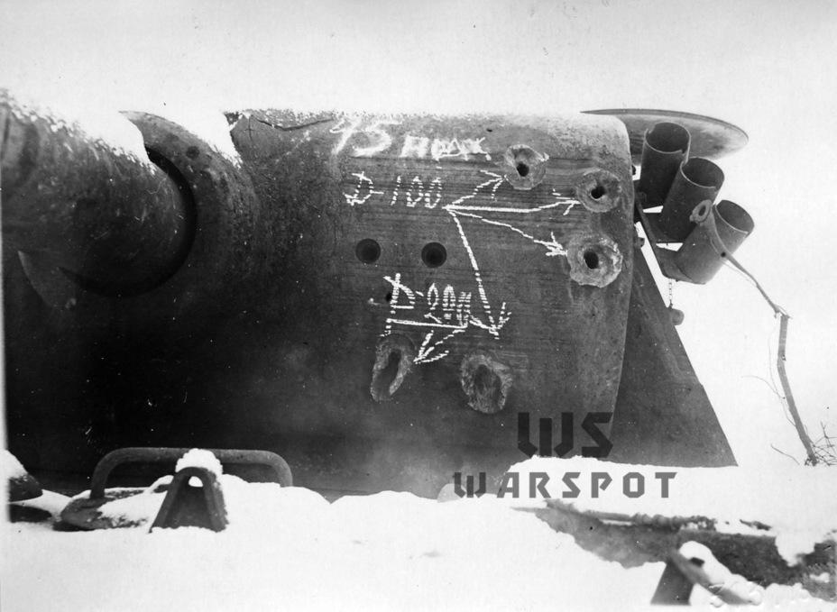 Пробитие орудийной маски подкалиберными снарядами 45-мм пушки на дистанции 100 метров - Страшнее кошки зверя нет | Warspot.ru