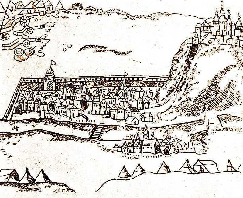 Чигирин, гравюра XVII века. beket.com.ua - Второй год Хмельниччины: тревожный мир | Warspot.ru