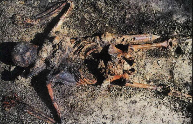 Скелет римского солдата, ставшего жертвой извержения Везувия в 79 году н.э.
