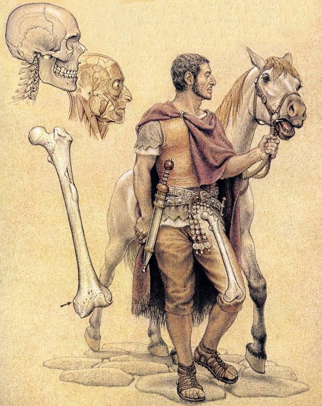 Реконструкция облика римского солдата из Помпей