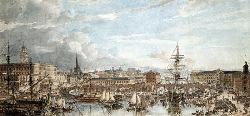Стокгольм принимает военные корабли, 1788 год. Художник Луи-Жан Деспре - Мы пойдём своим путём  | Warspot.ru