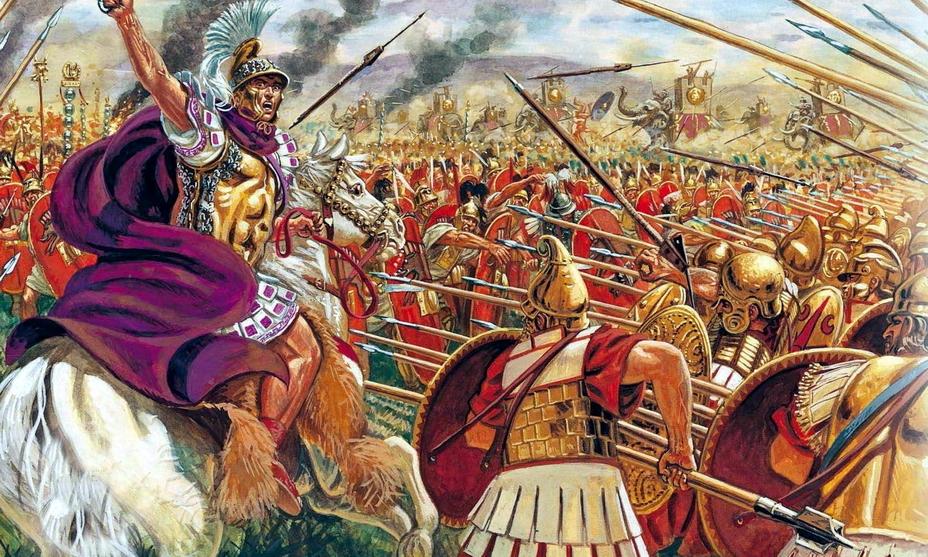 Так итальянский художник Джузеппе Рава изобразил Пирра и его войско в битве при Аускуле - Пирр: авантюрист, полководец, правитель | Warspot.ru