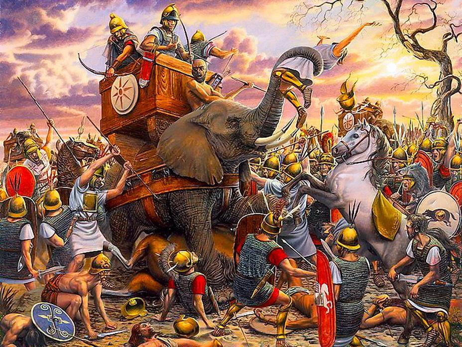 Слоны Пирра против римской пехоты. Это эффективное оружие при неудачном стечении обстоятельств могло стать смертельным и для своих хозяев - Пирр: авантюрист, полководец, правитель | Warspot.ru