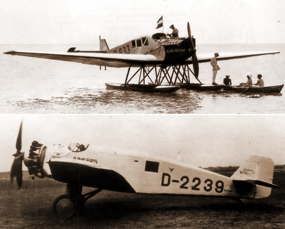 «Юнкерс» F 13 (№833, регистрационный код D-OXEL) и «Юнкерс» W 34 (№2239 код D-ONAZ) - Крылатые предвестники войны | Warspot.ru
