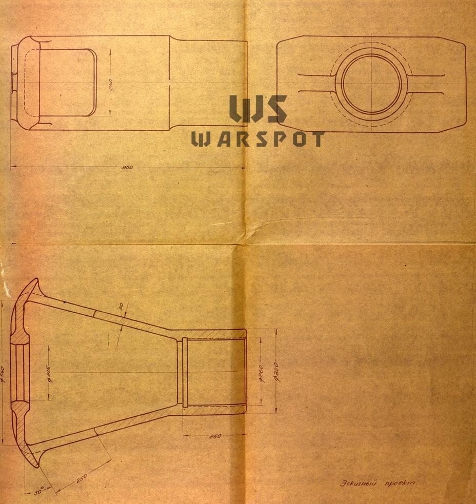 Для установки на самоход предполагалось снабдить Б-4 весьма массивным дульным тормозом - Крупнокалиберные кабриолеты | Warspot.ru