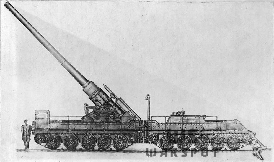 Проект САУ с 210-мм орудием БР-17 на сочленённом шасси Т-34 - Крупнокалиберные кабриолеты | Warspot.ru