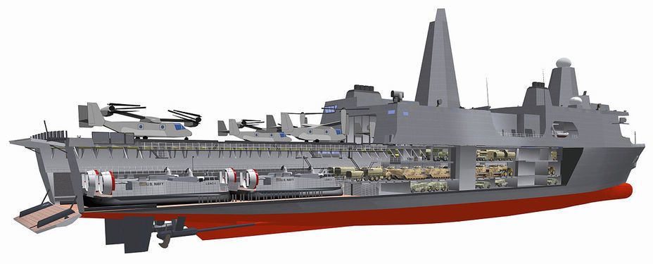 Компьютерная модель корабля типа San Antonio. skyscrapercity.com - «Чёртова дюжина» американских «десантников» | Warspot.ru