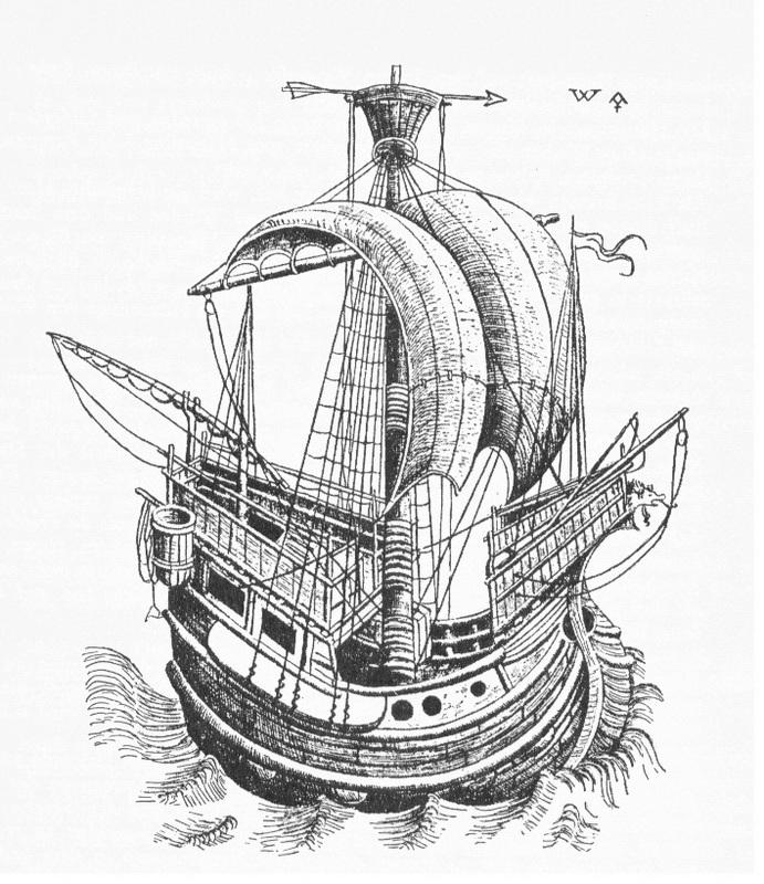 Ганзейский корабль. Гравюра XV века. upload.wikimedia.org - Запретная торговля | Warspot.ru