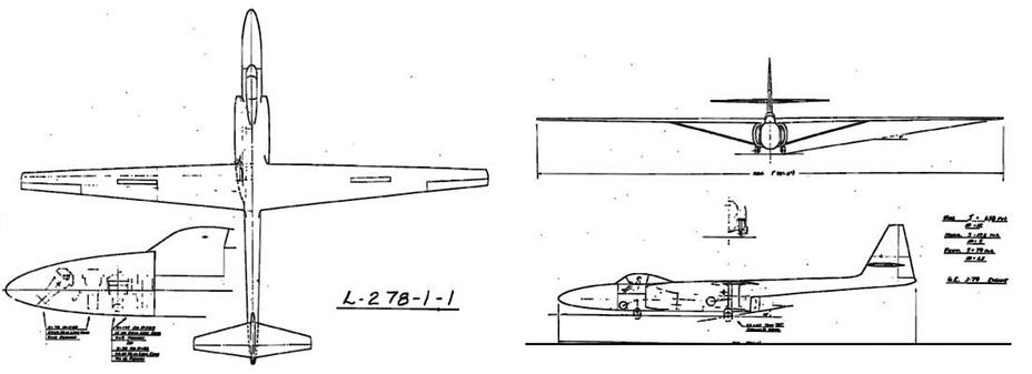 Lockheed CL-278, первый из высотных разведчиков Lockheed — именно из него в итоге получится U-2. 1954 год - «Стелс»: первые пять лет | Warspot.ru
