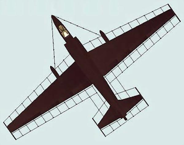 Размещение антенн Trapeze на U-2, 1956 год - «Стелс»: первые пять лет | Warspot.ru