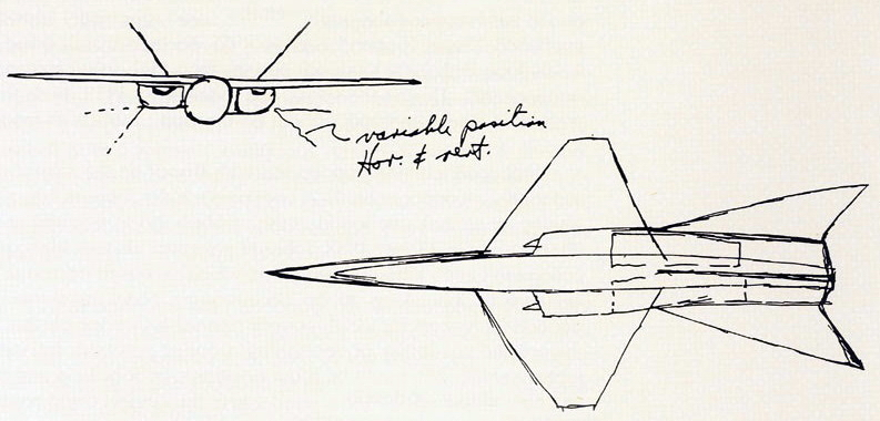 Первый набросок Джонсона проекта скоростного высотного разведчика от Lockheed - «Стелс»: первые пять лет | Warspot.ru