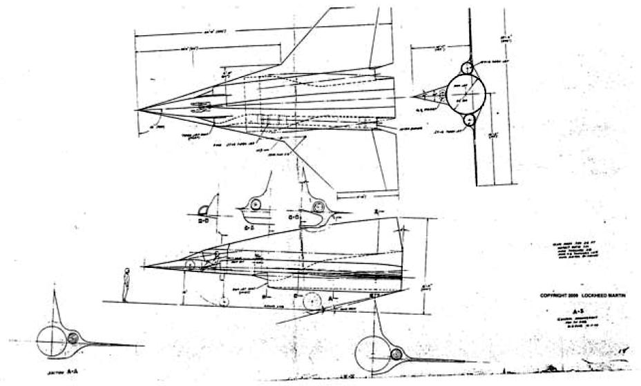 Проекции Lockheed Archangel 5-1, 1959 год - «Стелс»: первые пять лет | Warspot.ru