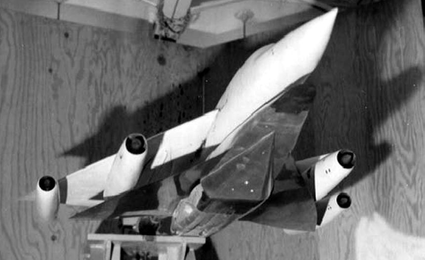 Продувочная модель FISH вместе с носителем В-58, 1959 год - «Стелс»: первые пять лет | Warspot.ru