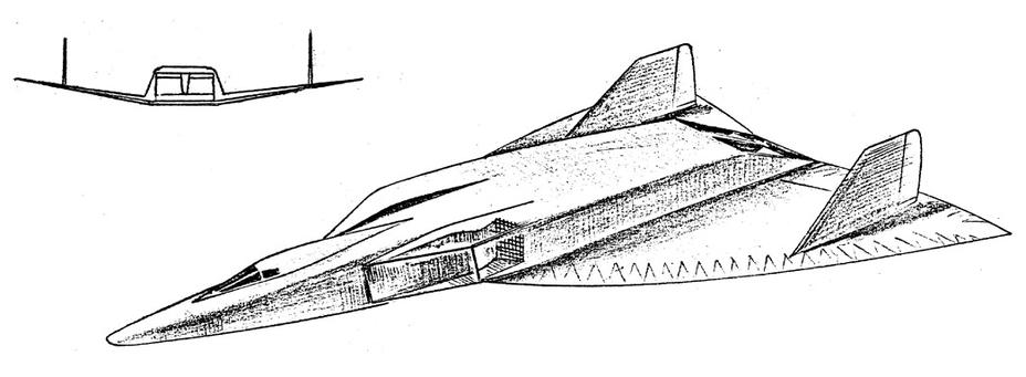 Сверхзвуковой высотный разведчик Convair KINGFISH, 1959 год - «Стелс»: первые пять лет | Warspot.ru