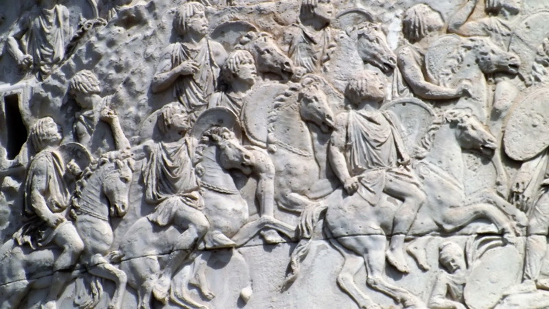 Мавританская кавалерия Лусия Квиета на рельефах Колонны Траяна в Риме