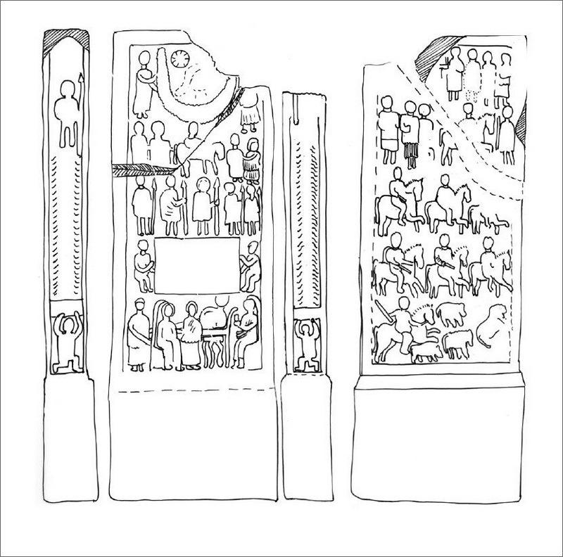 Стела из Тазрута, II–III века н.э.