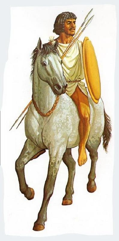 Мавританский всадник. Реконструкция П. Коннолли на основе рельефа Колонны Траяна