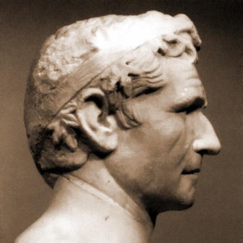 Античный мраморный бюст, предположительно изображающий Агафокла