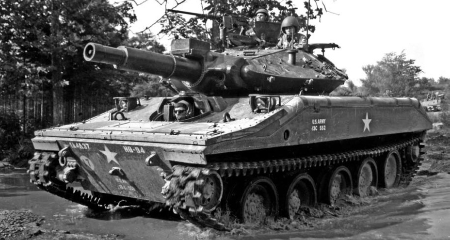 ​М551 ранних серий. Форт-Нокс, 1967 год. Zaloga S. M551 Sheridan. US Airmobile Tanks 1941-2001. – Oxford, 2009 - «Шериданы» в строю и в бою | Warspot.ru