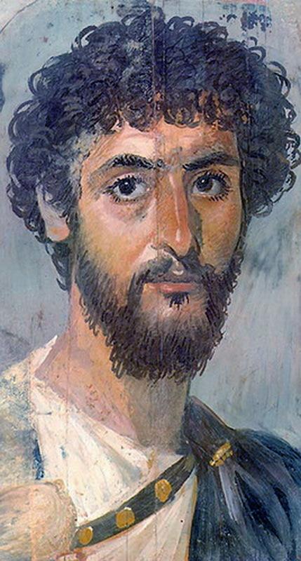Фаюмский портрет, изображающий римского солдата или моряка из Египта. Начало II века н.э.