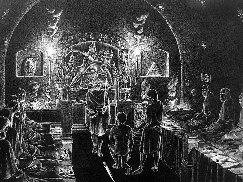 Реконструкция обряда инициации в религии Митры - День рождения Непобедимого Солнца  | Warspot.ru