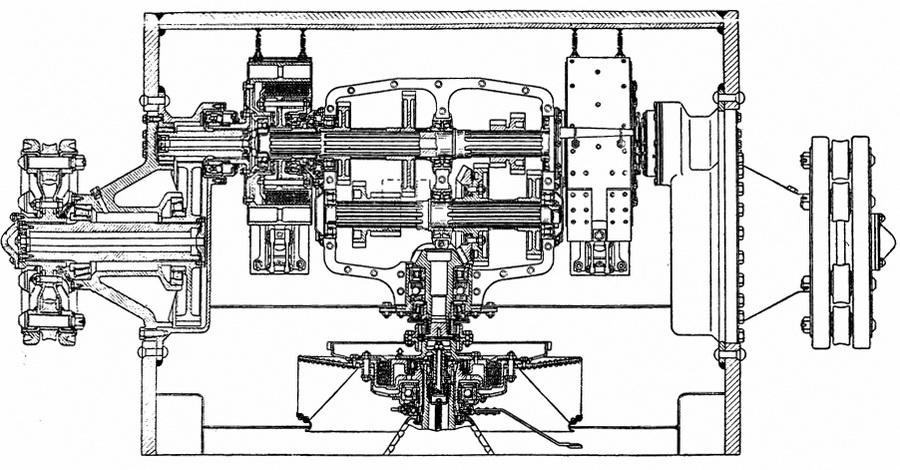 Схема трансмиссии и бортовых передач, составленная англичанами - «Тридцатьчётверка» на гастролях | Warspot.ru