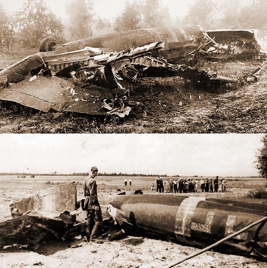 Обломки бомбардировщика «Хейнкель» He 111, сбитого таранным ударом И-16 Виктора Талалихина - Так был ли таран?   Warspot.ru